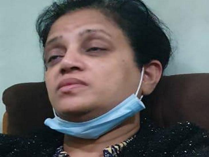 पुलिस पूछताछ के दौरान सामने आई आंटी की तस्वीर।