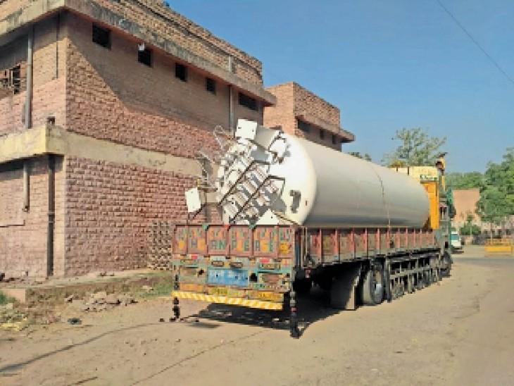 एमडीएमएच में बन रहा 20 हजार किलोलीटर क्षमता का लिक्विड ऑक्सीजन प्लांट इसी हफ्ते में हो सकता है शुरू|जोधपुर,Jodhpur - Dainik Bhaskar