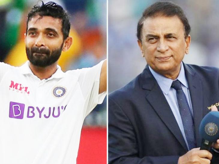 सुनील गावस्कर ने रहाणे की ऑस्ट्रेलिया के खिलाफ सेंचुरी को भारतीय क्रिकेट इतिहास के सबसे महत्वपूर्ण शतकों में से एक बताया। - Dainik Bhaskar