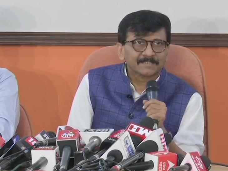 शिवसेना सांसद संजय राउत ने सोमवार को मुंबई में प्रेस कॉन्फ्रेंस की, उन्होंने पत्नी पर हुई कार्रवाई को राजनीति से प्रेरित बताया।