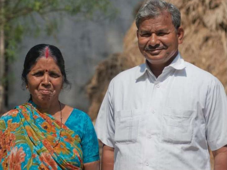 पत्नी के साथ लाल बिहारी।