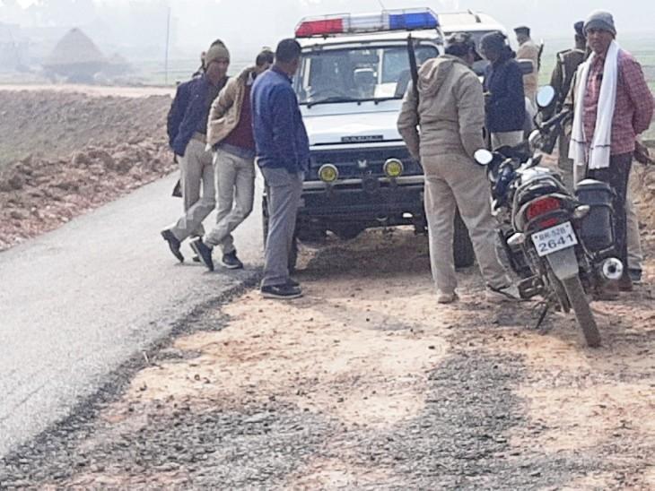 घटना के बाद मौके पर पहुंची पुलिस।