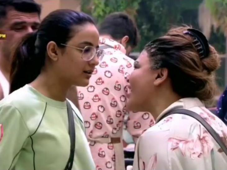 नए वीडियो में राखी सावंत ने लगाया आरोप कि जैस्मिन भसीन ने तोड़ी उनकी नाक, सर्जरी की मांग कर रही हैं राखी|टीवी,TV - Dainik Bhaskar
