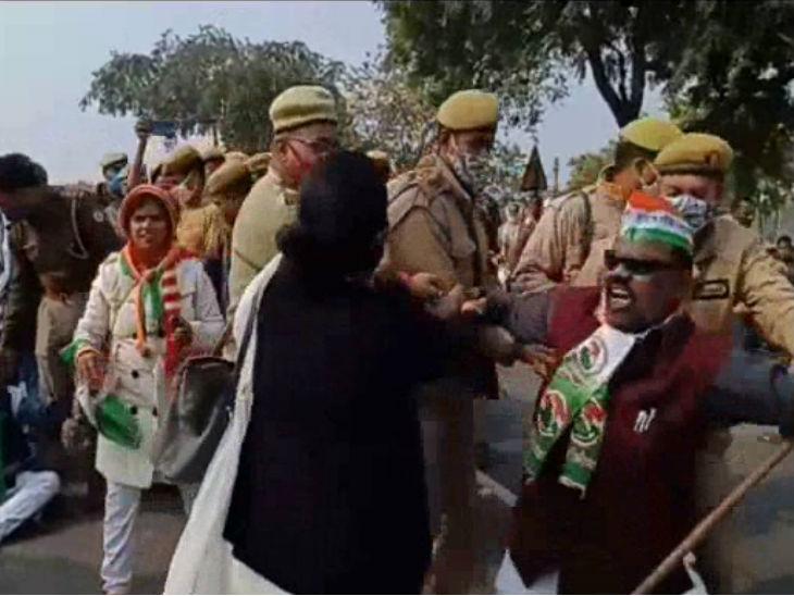 'गाय बचाओ-किसान बचाओ' पदयात्रा: गिरफ्तारी की सूचना से कांग्रेस प्रदेश अध्यक्ष लल्लू ने बांदा का दौरा रद्द कर दिया;  कई गिरफ्तार किए गए