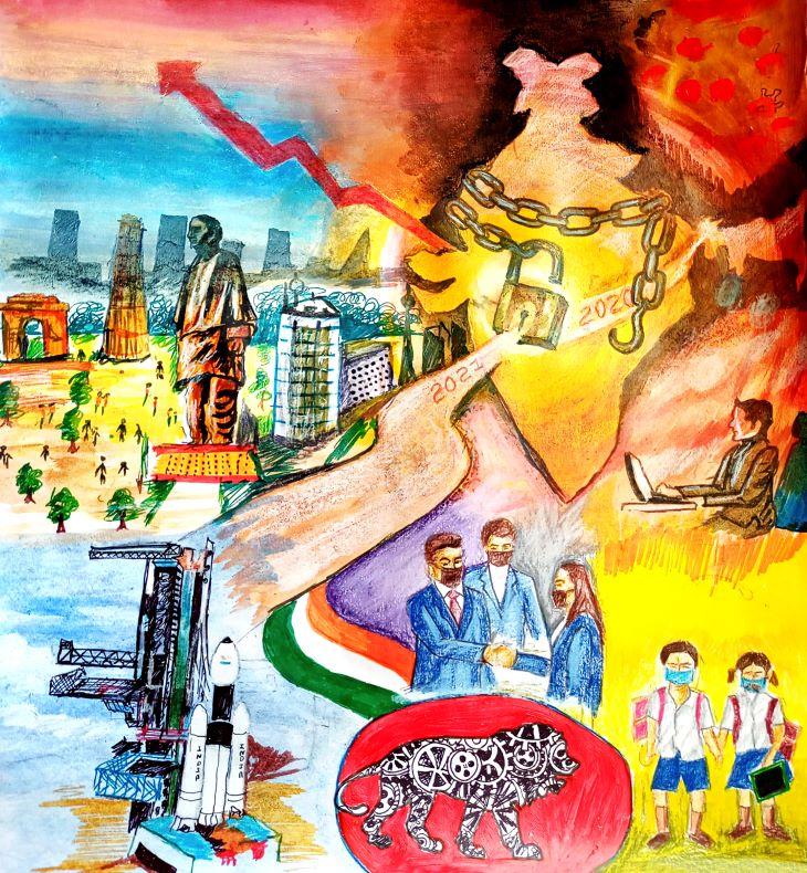 सांत्वना पुरस्कार विजेता - रोहनन ठाकुर की पेंटिंग