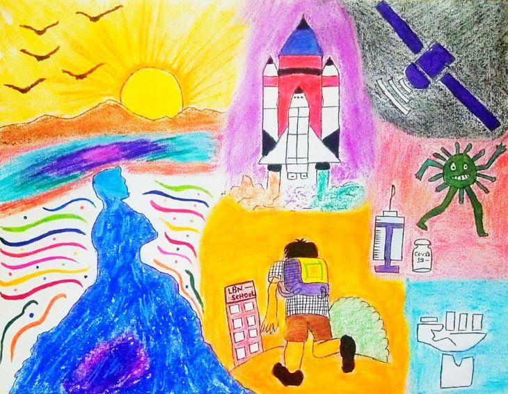 सांत्वना पुरस्कार विजेता - तन्मय सोनी की पेंटिंग