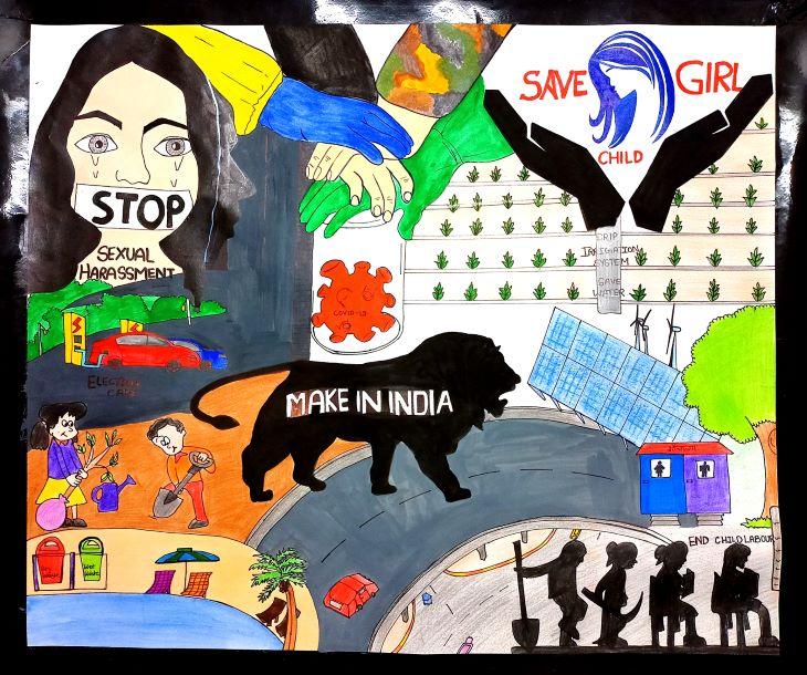 सांत्वना पुरस्कार विजेता - तन्वी पटेल की पेंटिंग