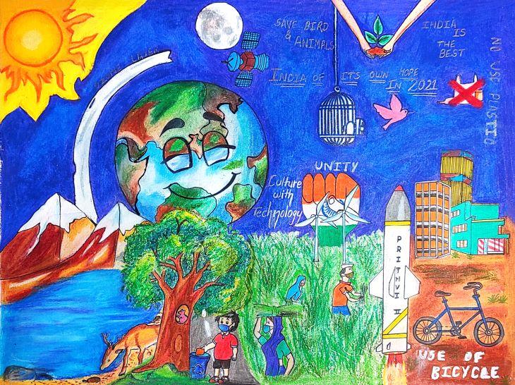 सांत्वना पुरस्कार विजेता - आरती गुसाई की पेंटिंग