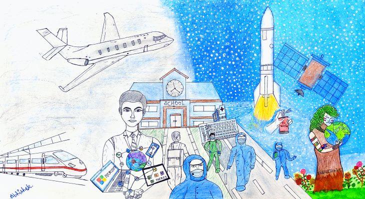 सांत्वना पुरस्कार विजेता - अभिषेक शर्मा की पेंटिंग