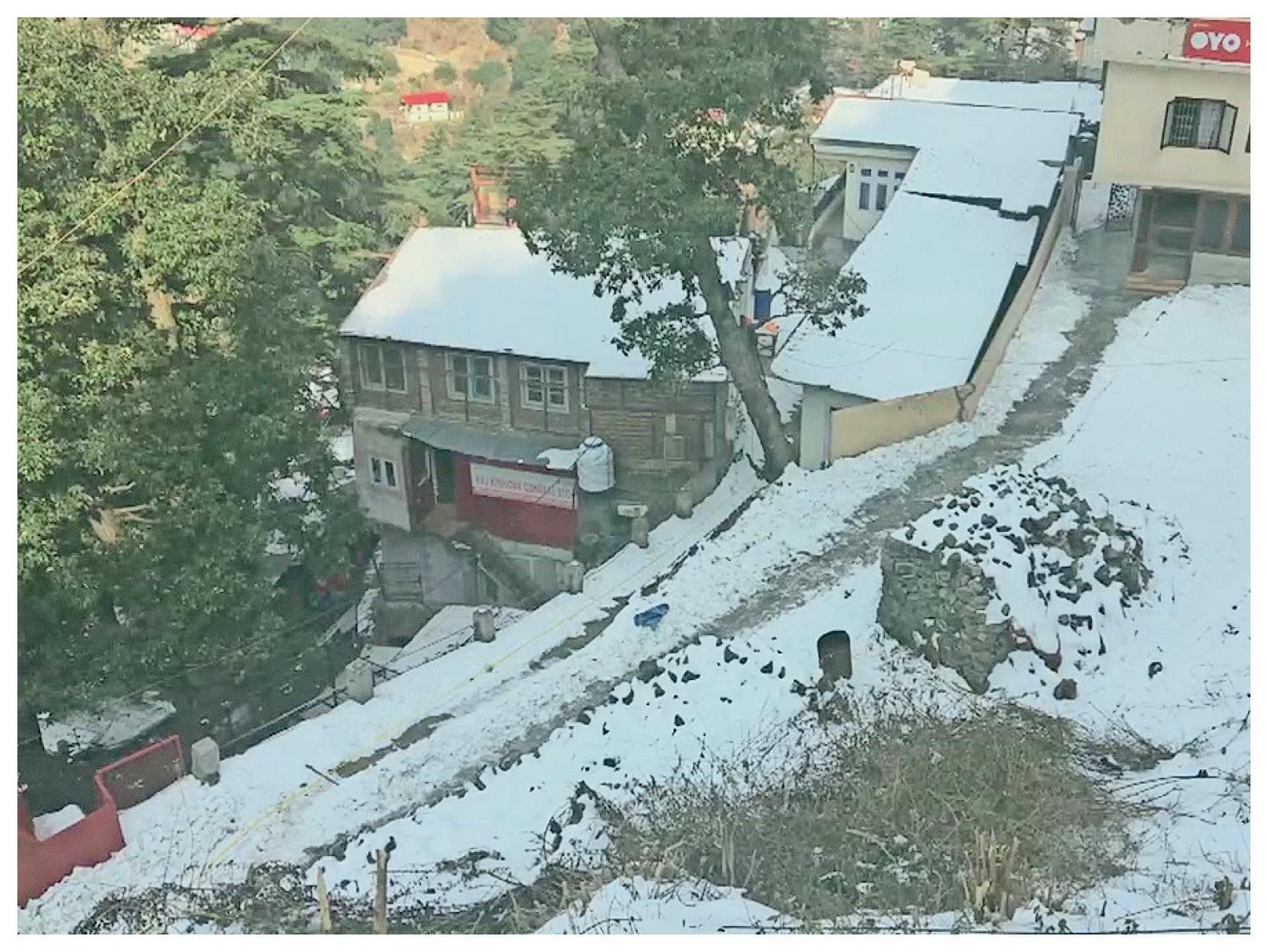 शिमला में बर्फबारी जारी है।