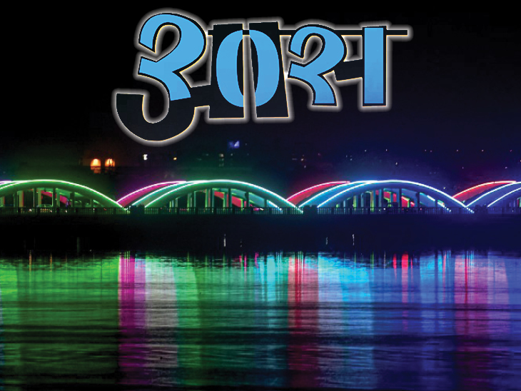 फोटो चेन्नई की है। यहां नैपियर ब्रिज को रंग-बिरंगी लाइट्स से सजाया गया है। - Dainik Bhaskar