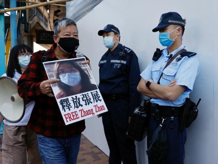 चीन में झैंग झान की रिहाई की मांग भी हो रही है।
