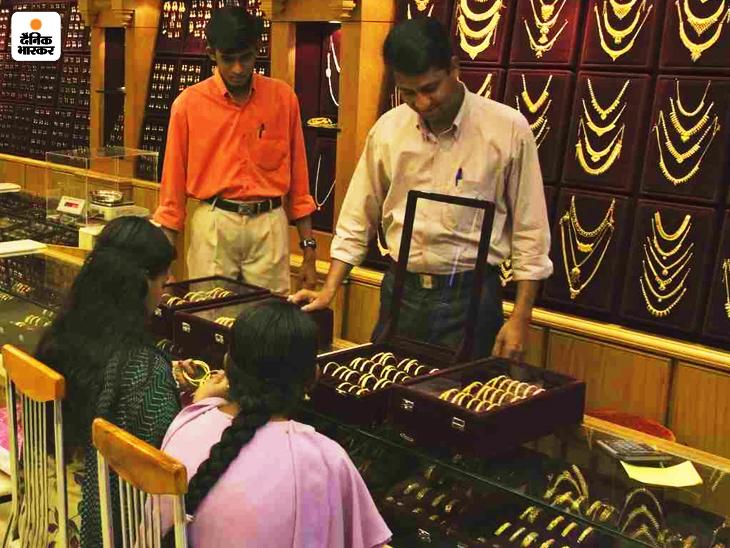 फरवरी में डिलीवर होने वाले सोने की कीमत 0.12 प्रतिशत की बढ़त के साथ 51,488 रुपए प्रति 10 ग्राम हो गई - Dainik Bhaskar