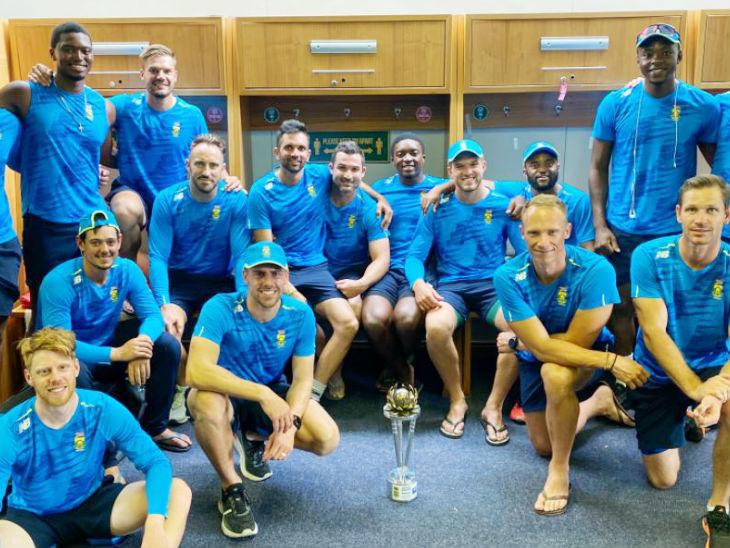 सीरीज को 2-0 से जीतने के साथ साउथ अफ्रीका ने वर्ल्ड टेस्ट चैम्पियनशिप के लिए महत्वपूर्ण 120 पॉइंट भी हासिल किए। - Dainik Bhaskar