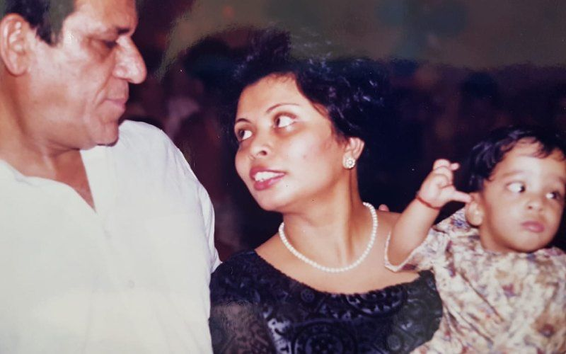 Om Puri with wife Nandita.