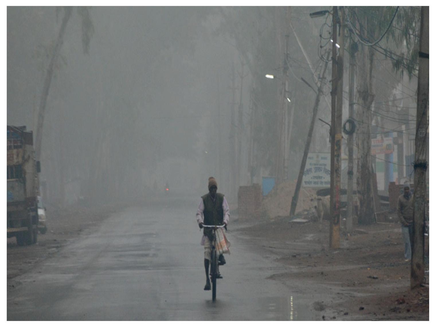 फोटो मध्यप्रदेश के रायसेन की है। एक तरफ बारिश ने भिगाया, तो सुबह कोहरा भी छाया।