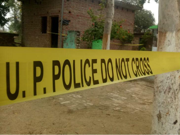 Police cordoned off the crime scene at the scene.