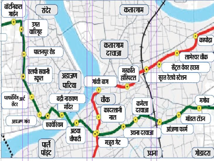 मेट्रो के लिए 806 निजी जमीन लेना बाकी, मनपा चुनाव से पहले पीएम मोदी 18 को करेंगे शिलान्यास गुजरात,Gujarat - Dainik Bhaskar