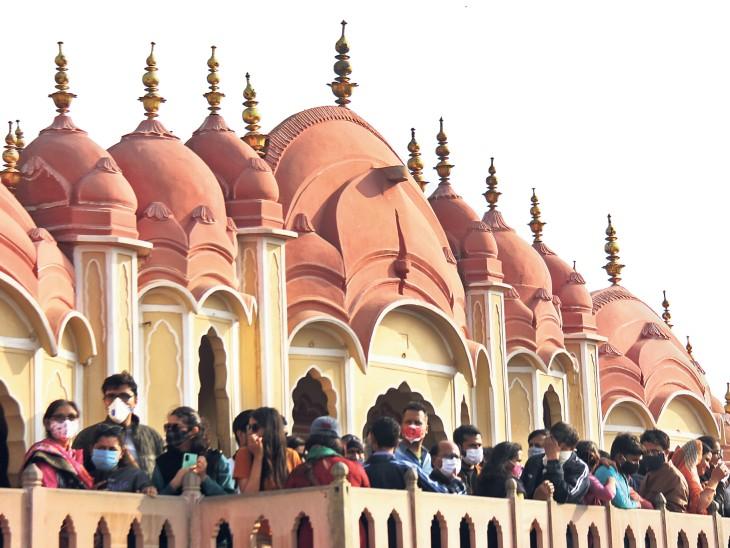 राजस्थान के जयपुर में 16 किमी प्रति घंटे की रफ्तार से ठंडी हवाएं चलीं।