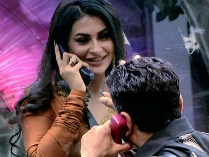 ऐजाज के इजहार-ए-मोहब्बत के बाद घर में पहुंची पवित्रा पूनिया, एविक्शन में हाउसमेट्स को रोता देख रो पड़े सलमान|टीवी,TV - Dainik Bhaskar