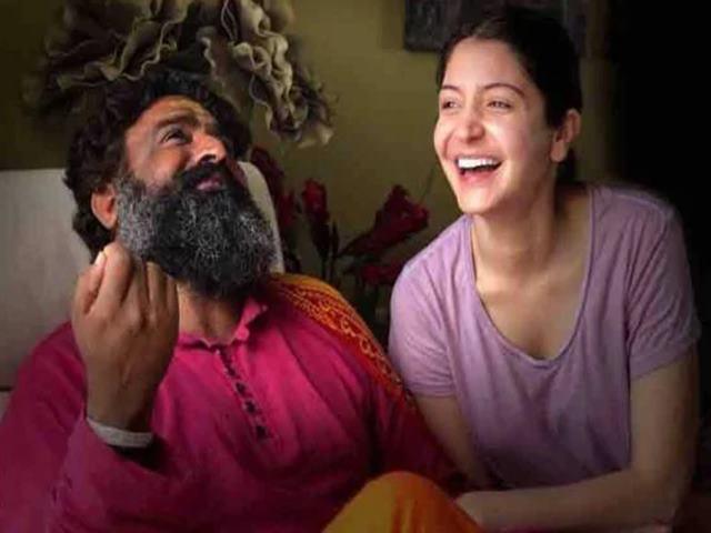 बाबा अनंत नारायण के साथ अनुष्का शर्मा
