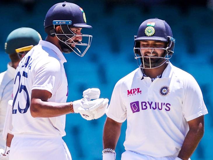 पंत और चेतेश्वर पुजारा ने चौथे विकेट के लिए 148 रन की पार्टनरशिप की।