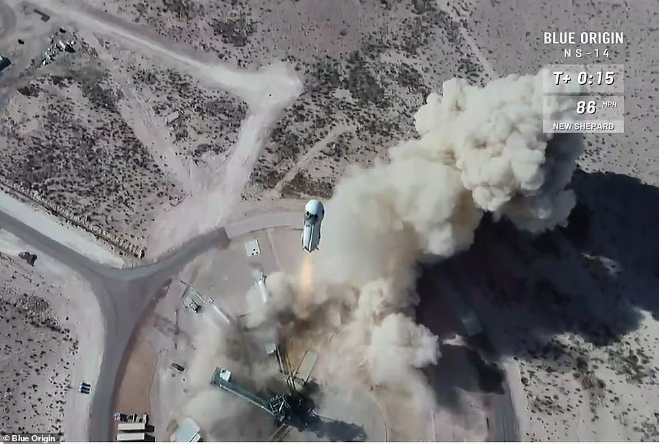 स्पेस कंपनी ब्लू ओरिजिन ने अपने इस मिशन को एनएस-14 नाम दिया गया है।