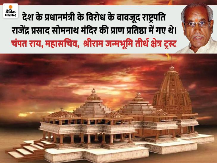 मंदिर निर्माण के लिए राष्ट्रपति के दान पर विवाद हुआ तो चंपत राय बोले- सवाल उठाने वाले इतिहास पढ़ें|लखनऊ,Lucknow - Dainik Bhaskar