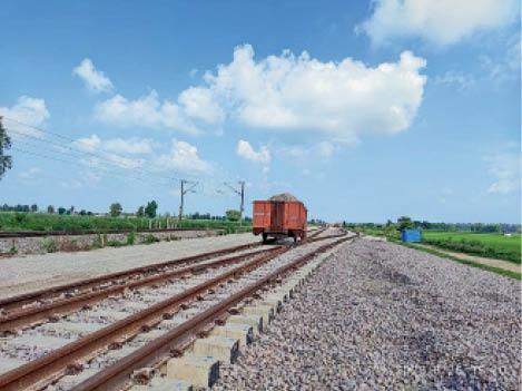 राजपुरा में ठप पड़ा डेडिकेटेड फ्रेट कॉरिडोर का निर्माण कार्य। - Dainik Bhaskar