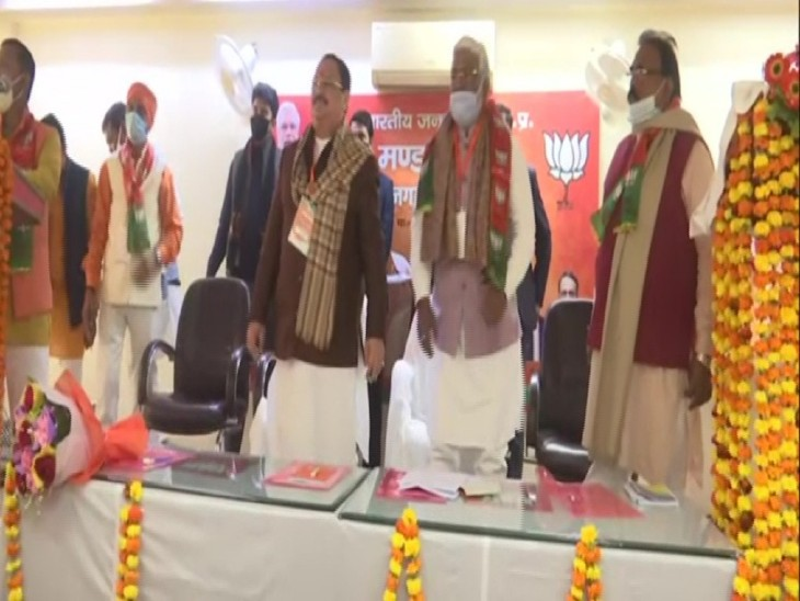 बूथ अध्यक्षों के कार्यक्रम में जे पी नड्डा ने कहा- पारिवारवाद हो या जातिवाद, इससे लोकतंत्र की जड़ें कमजोर होती हैं|लखनऊ,Lucknow - Dainik Bhaskar