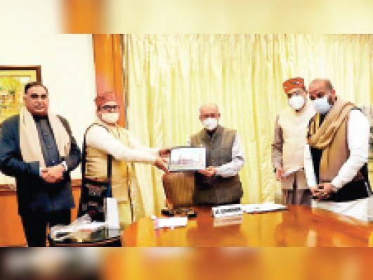 दिल्ली एलजी अनिल बैजल ने श्रीराम मंदिर निर्माण के लिए दिया 1 लाख का चेक दिल्ली + एनसीआर,Delhi + NCR - Dainik Bhaskar