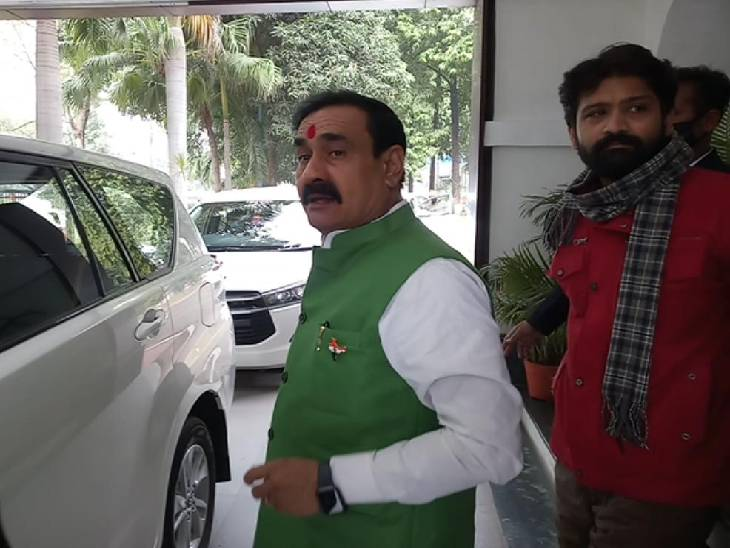 गृहमंत्री नरोत्तम मिश्रा ने कहा कि देश में कुछ लोग संभावनाओं पर आंदोलन करवा रहे हैं, मुद्दा विहीन कांग्रेस दूसरे के ललना को पलना में झूला रही है|जबलपुर,Jabalpur - Dainik Bhaskar