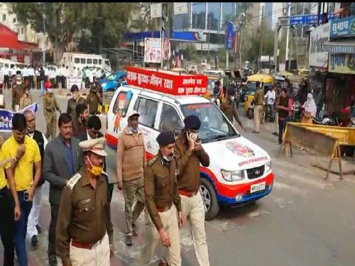 32वां राष्ट्रीय सुरक्षा माह के दौरान पहुंचे थे जबलपुर, कहा - नियमों का पालन कर सड़क हादसे कर सकते हैं कम|जबलपुर,Jabalpur - Dainik Bhaskar
