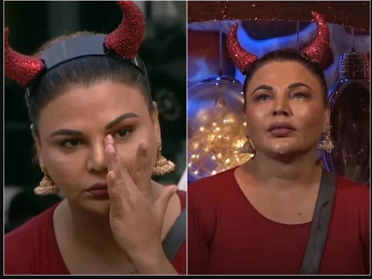 अभिनव शुक्ला के नॉमिनेशन को लेकर दुविधा में पड़ीं राखी सावंत, रोते हुए बोलीं- तुमने मेरे साथ बहुत बुरा किया है|टीवी,TV - Dainik Bhaskar