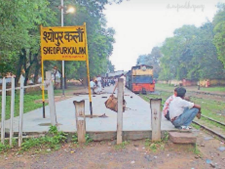 श्योपुर रेलवे स्टेशन। - Dainik Bhaskar