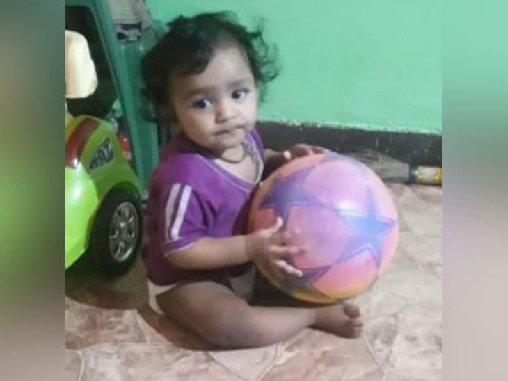 Adnan, one and a half year old child of the family living on the first floor, who was found dead in a water tank on the fourth floor.
