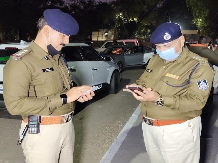 तुकोगंज टीआई कमलेश शर्मा और सीएसपी हरीश मोटवानी भी मौके पर मौजूद।