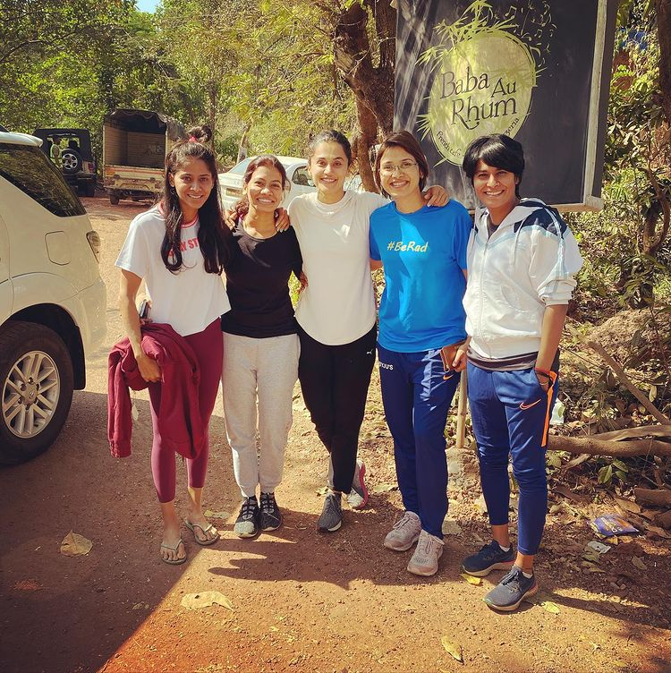 Taapsee's training team