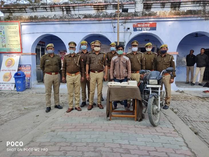 बहराइच में दोहरे हत्याकांड का खुलासा; शराब पिलाने के बाद रॉड से पीट पीटकर की थी हत्या, पहचान छिपाने के लिए चेहरे को कूचा था|गोरखपुर,Gorakhpur - Dainik Bhaskar
