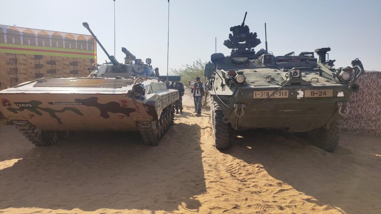 अमेरिका के तेज-तर्रार हथियारों से रूबरू हो रही है भारतीय सेना, भारत का टैंक भी अमेरिकी जवानों के लिए चौंकाने वाला बीकानेर,Bikaner - Dainik Bhaskar