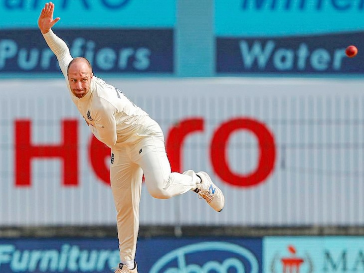 England spinner Jack Leach took 2 wickets in the first innings and 4 in the second innings.