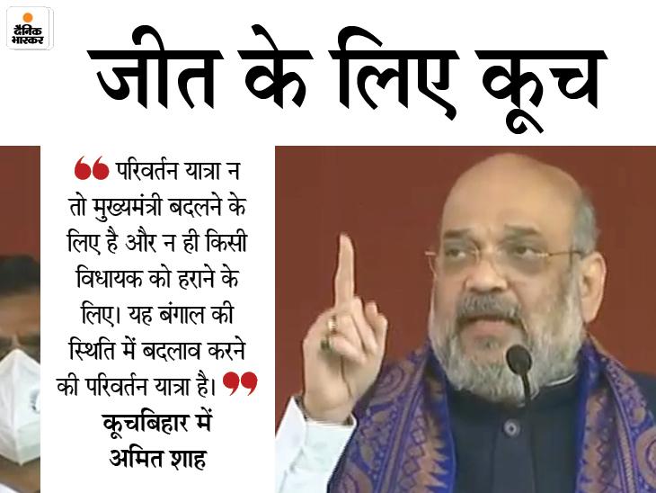 शाह बोले- वैक्सीनेशन खत्म होते ही CAA लागू करेंगे; जब तक ममता चुनाव नहीं हारतीं, यहां आता रहूंगा|देश,National - Dainik Bhaskar