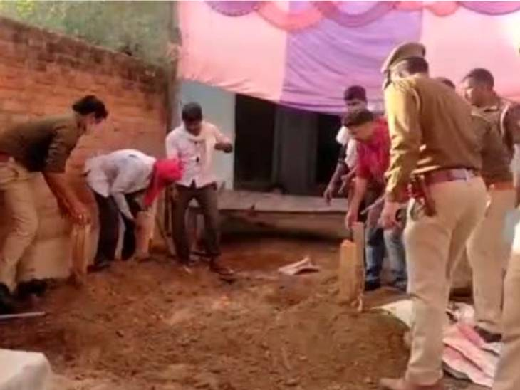 Police dug a pit and got the woman out.