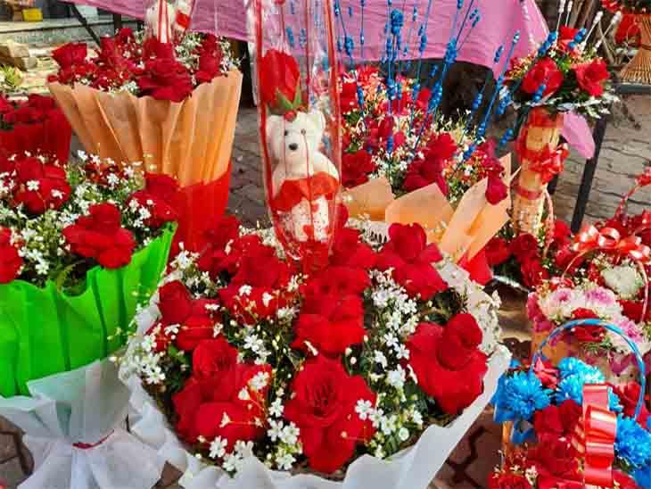 मोहाली में इस बार वेलेंटाइन डे पर फूल वालों का धंधा चौपट हुआ