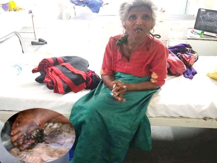 मकान पर लोगों ने कब्जा कर लिया, पैर में चोट लगी तो इंदौर के सबसे बड़े अस्पताल में भी सही इलाज नहीं हुआ|इंदौर,Indore - Dainik Bhaskar