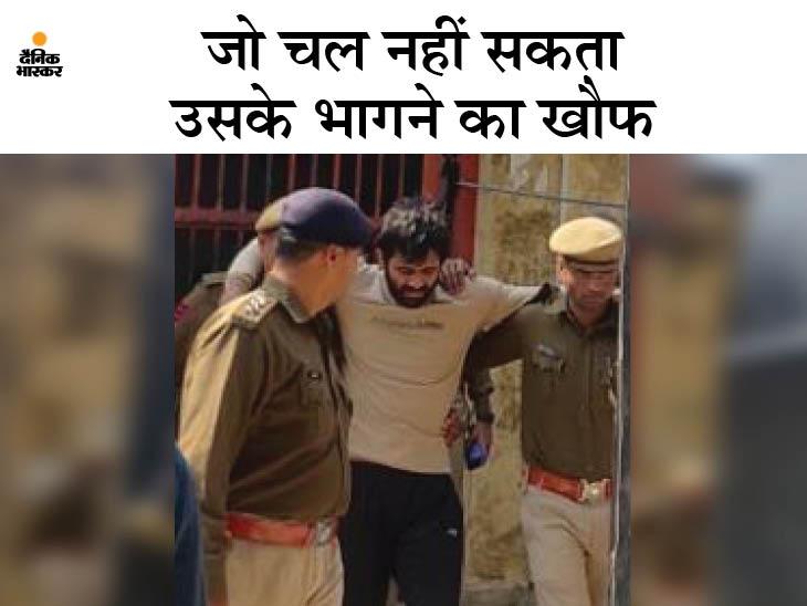 कस्टडी से दो बार भागे गैंगस्टर को किशनगढ़बास जेल से 1.45 घंटे में ही निकालना पड़ा; 300 किमी दूर सबसे सुरक्षित अजमेर जेल किया शिफ्ट|अलवर,Alwar - Dainik Bhaskar