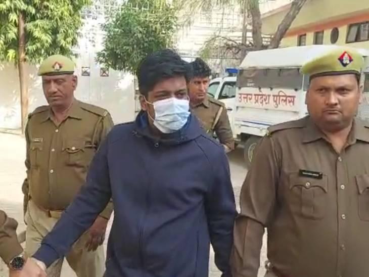 STF शुक्रवार को केरल की अरनाकुलम जेल से बी-वारंट पर लाई थी। - Dainik Bhaskar