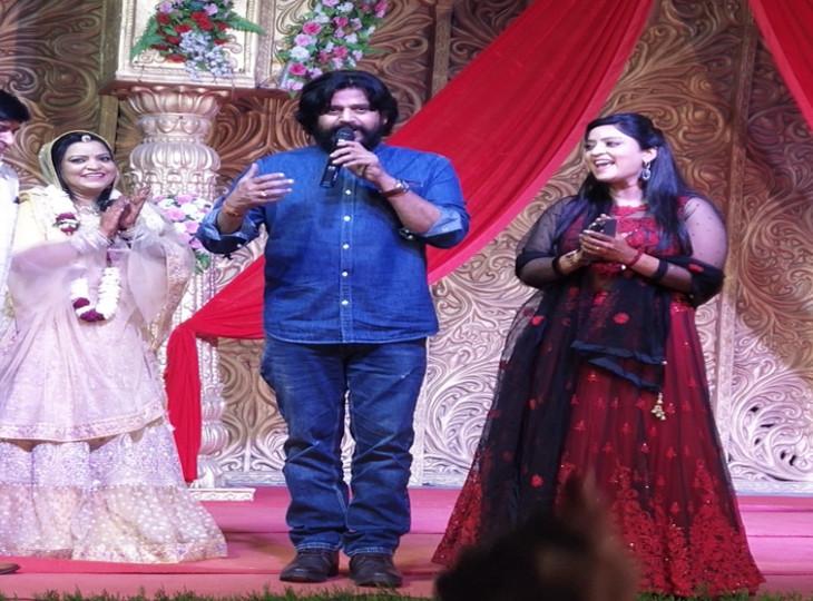 जयपुर में भोजपुरी एक्ट्रेस शुभी शर्मा की बहन की शादी में रविकिशन