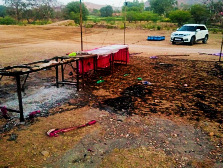 आग में हजारों का सामान जलकर हुआ राख।