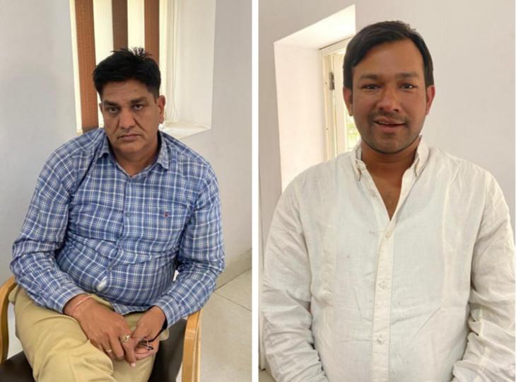 जयपुर में पकड़ा गया घूसखोर थानेदार: धोखाधड़ी के केस से नाम हटाने की लिए मांगी थी 5 लाख की रिश्वत, दलाल के मार्फत 1 लाख रुपए लेते ट्रैप